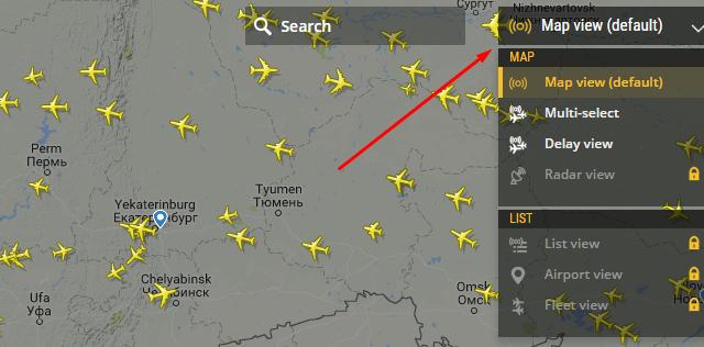 Флайт радар 24 на русском