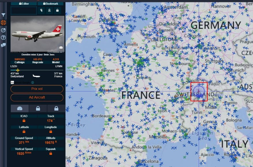 возможности сайта Radar Virtuel