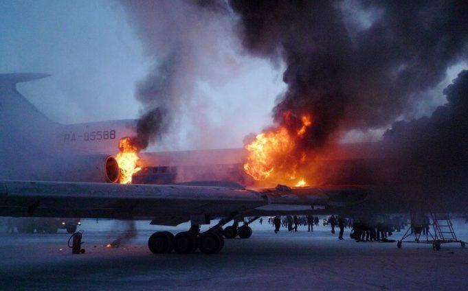самолёт может сгореть полностью за 90 секунд