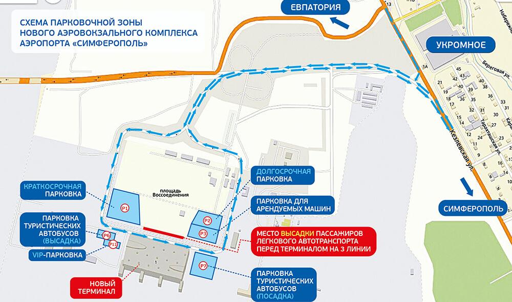 Аэропорт Симферополь новый терминал парковка