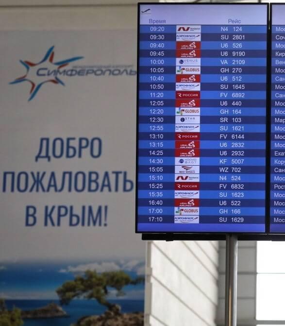 Аэропорт Симферополь прибытие рейсов