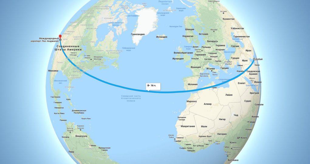 Самый длинный перелет в мире