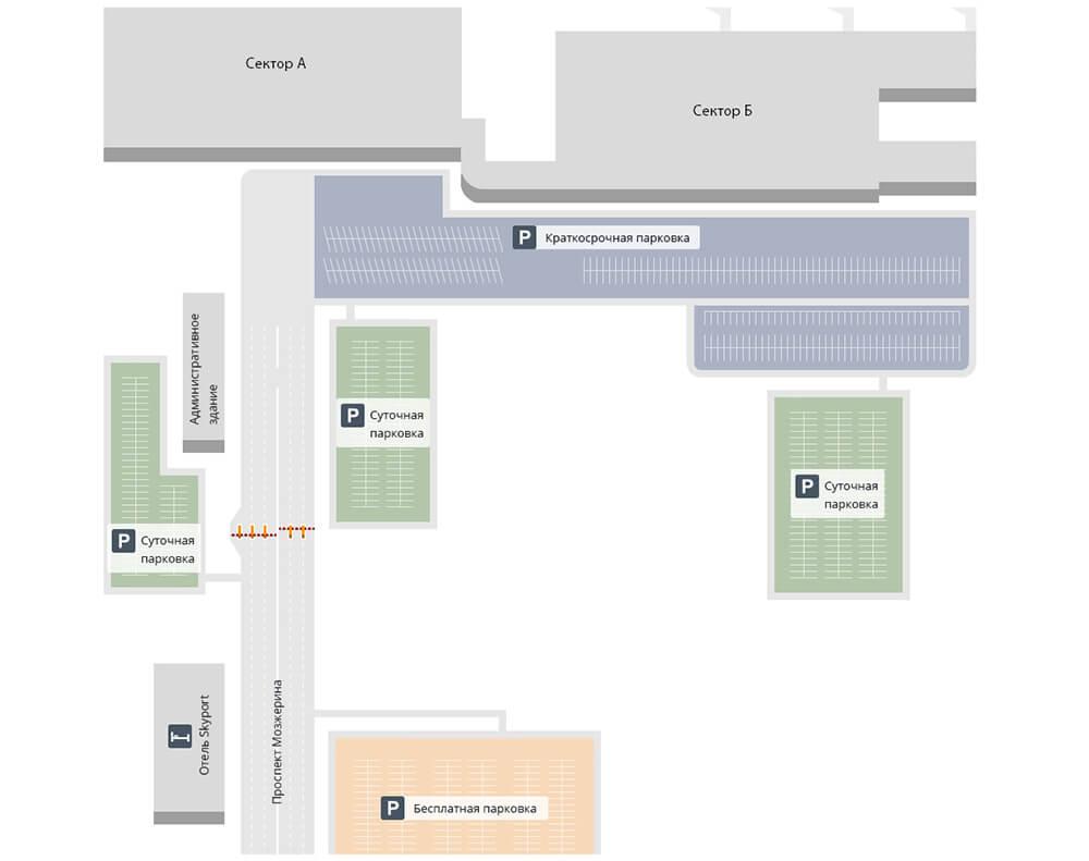 Схема аэропорта Новосибирска