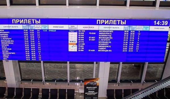 Внуково: онлайн-табло прилета
