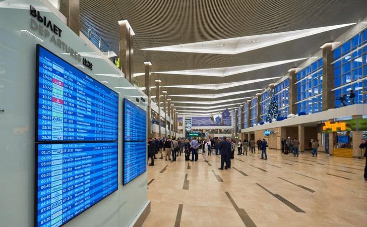 табло аэропорта Емельяново