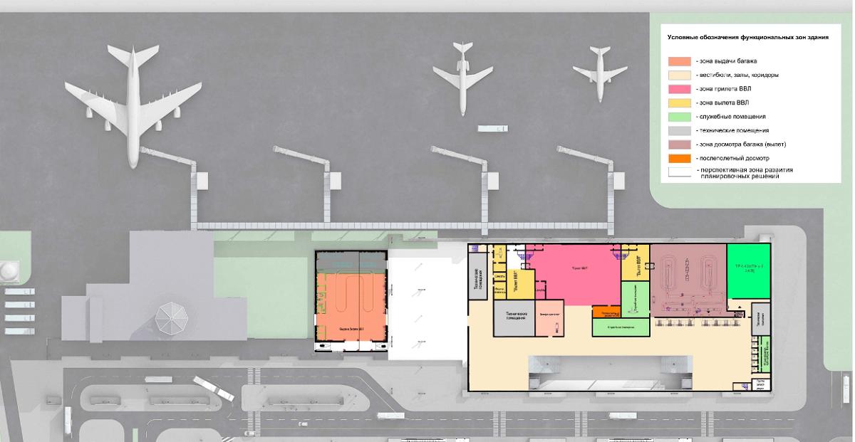 Схема аэропорта Южно-Сахалинск