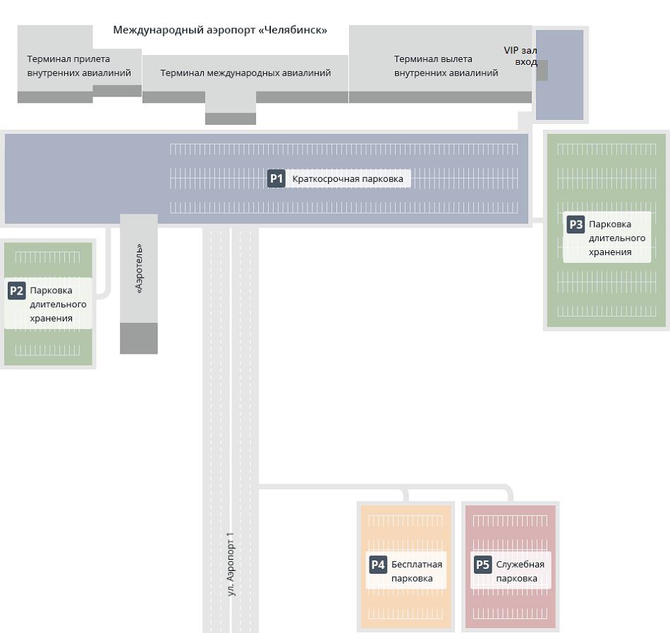 Схема и инфраструктура аэропорта Баландино