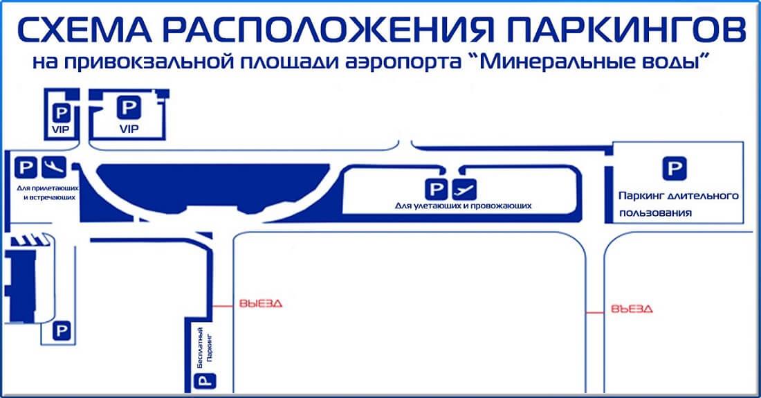 Схема паркинга аэропорта Минеральные Воды