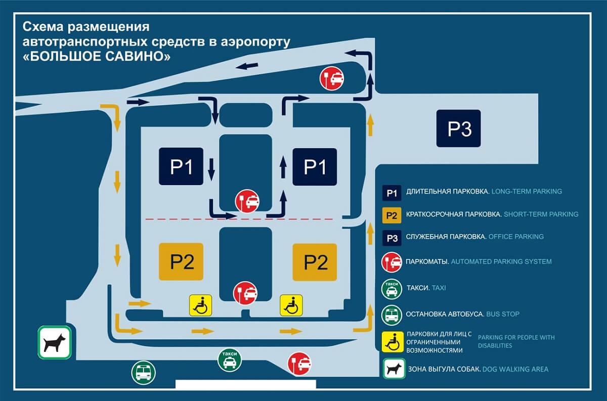 Парковка аэропорта Савино
