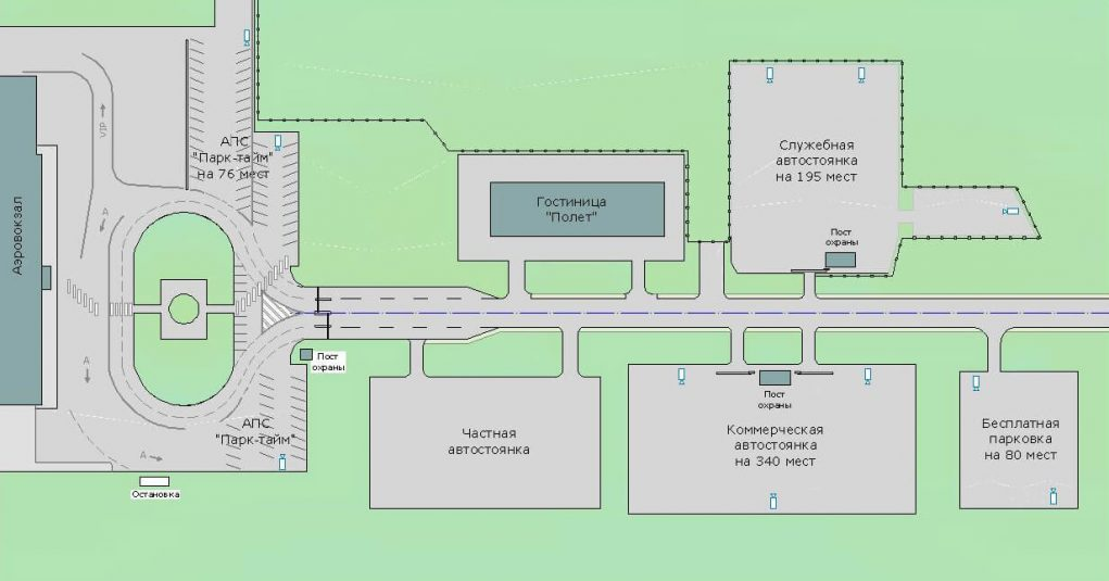 Схема аэхропорта Савино