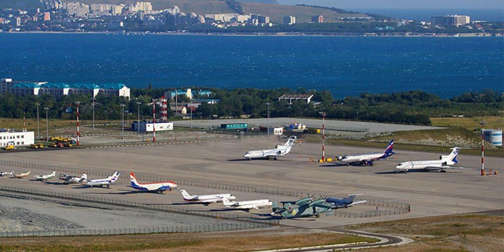 Вид на аэропорт Геленджик