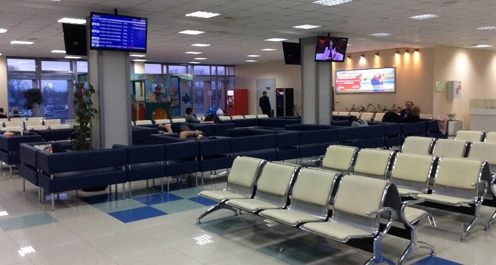 Зал ожидания аэропорта Хабаровск