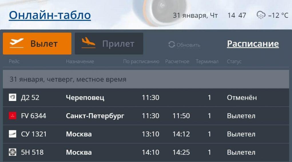 Аэропорт Мурманск: онлайн-табло вылета width=