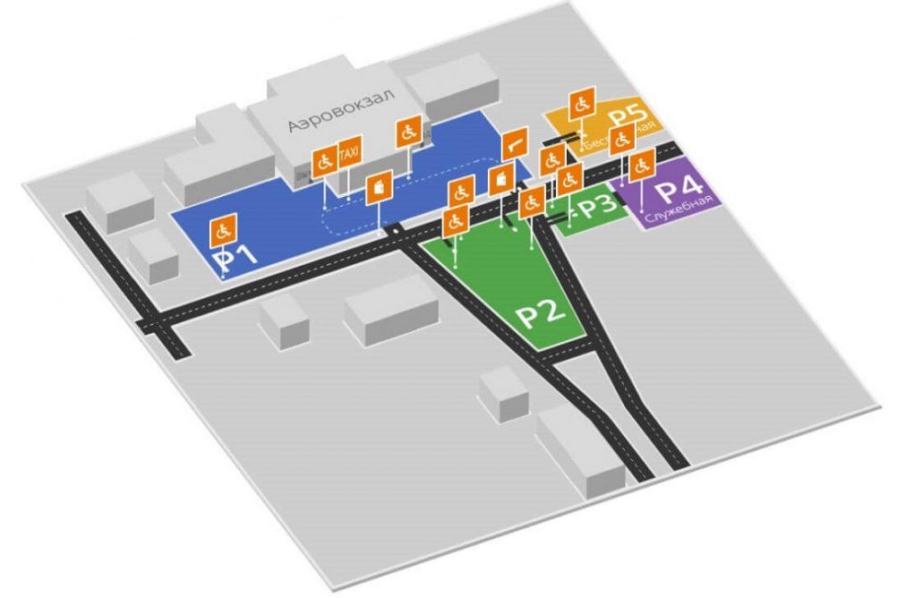 Аэропорт Рощино (Тюмень): парковка