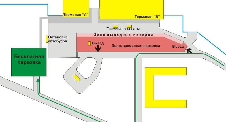 Бесплатная парковка аэропорта Омск