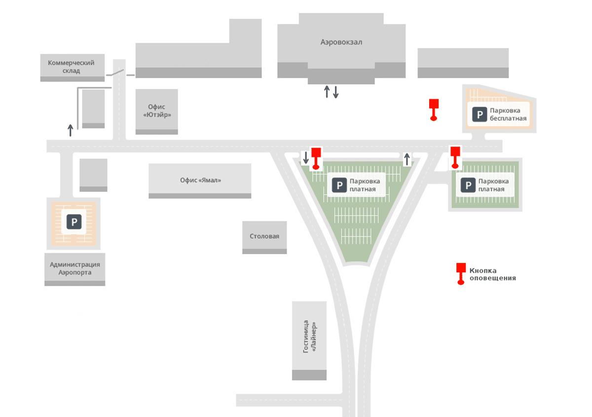 Схема аэропорта: Рощино Тюмень