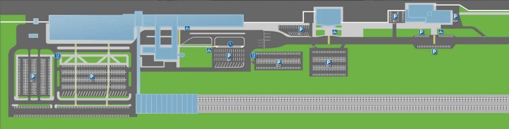 Схема парковки аэропорта Казань