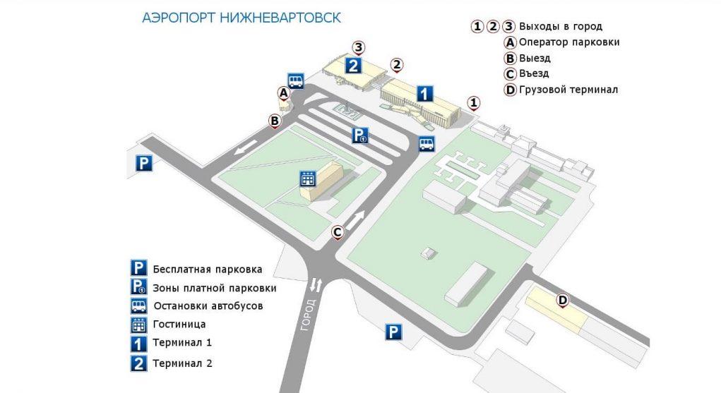 Онлайн-табло аэропорт Нижневартовск