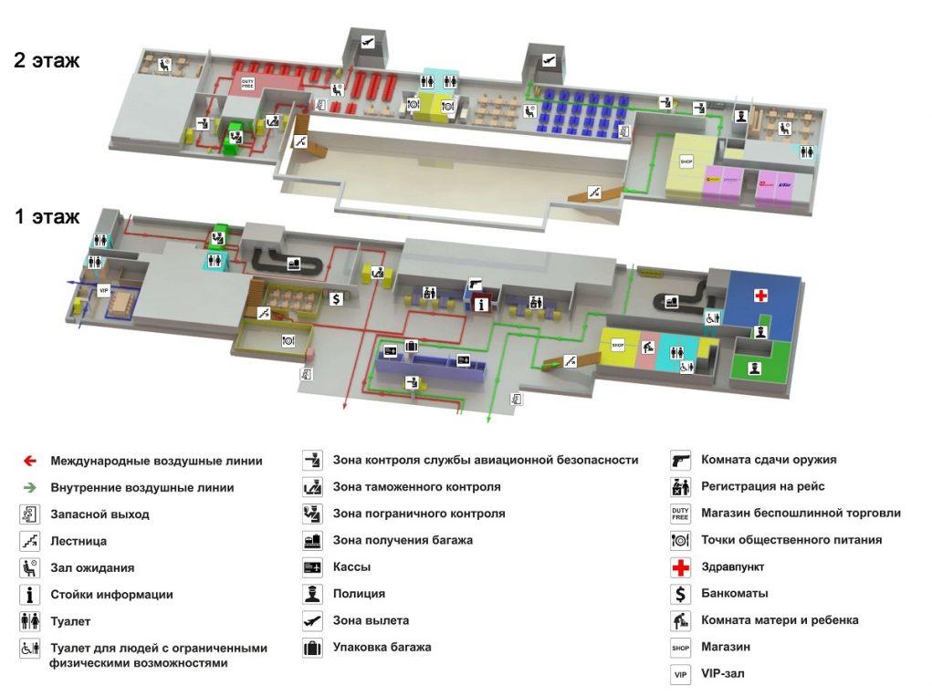 Схема аэропорта Воронеж