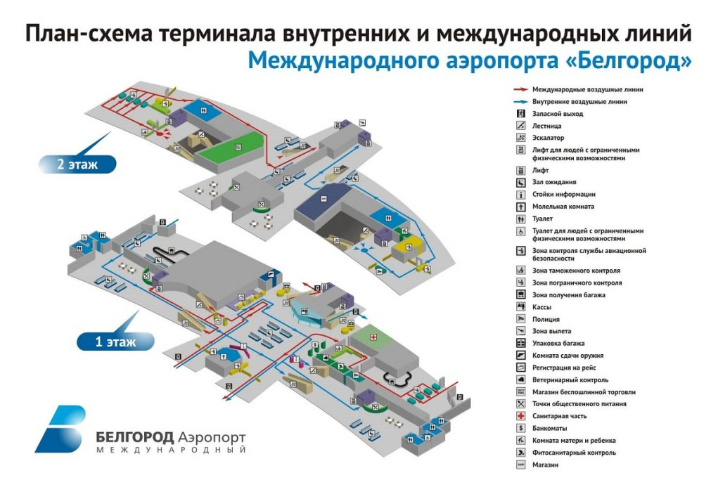 Схема и инфраструктура аэропорта Белгород
