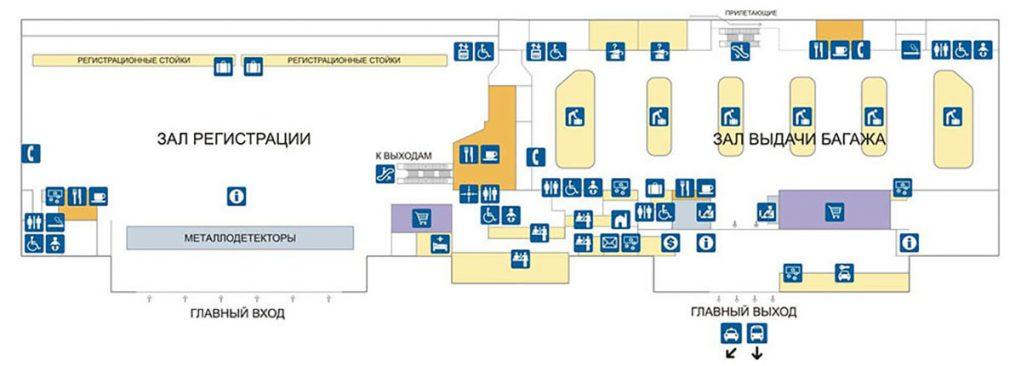 Карта аэропорта Анталия