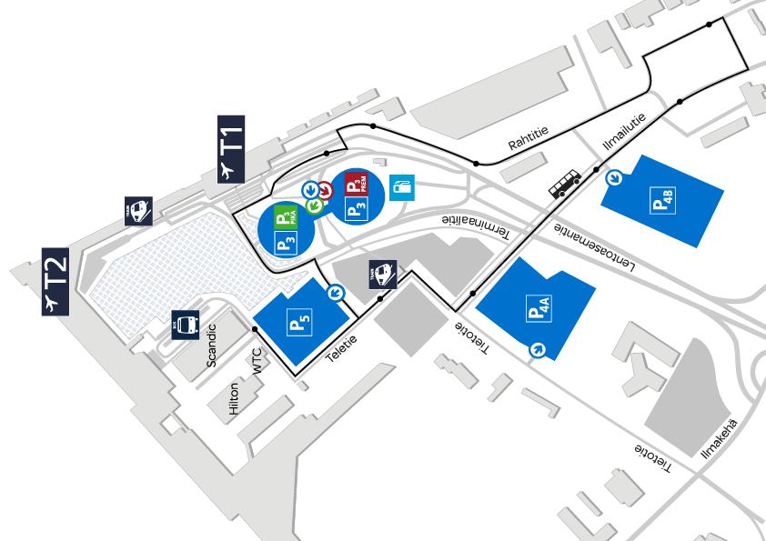 Парковка аэропорт Хельсинки
