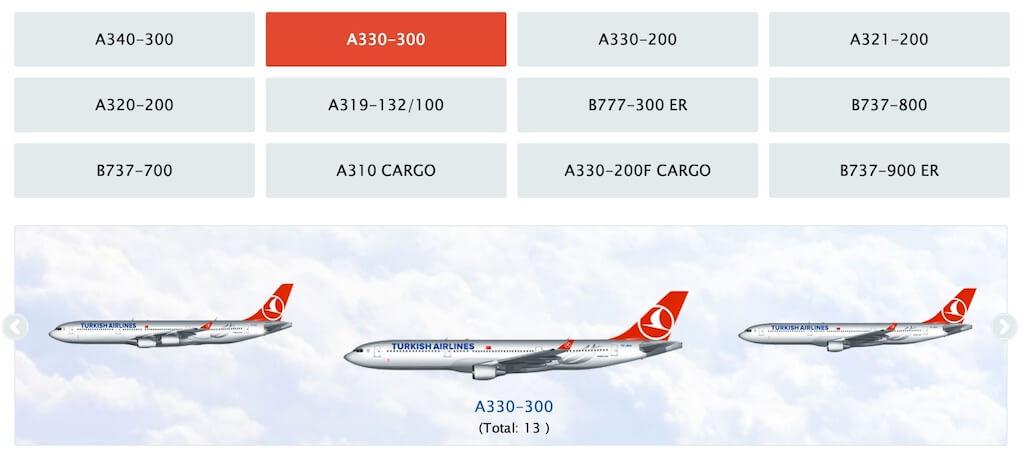 Парк самолетов Turkish Airlines