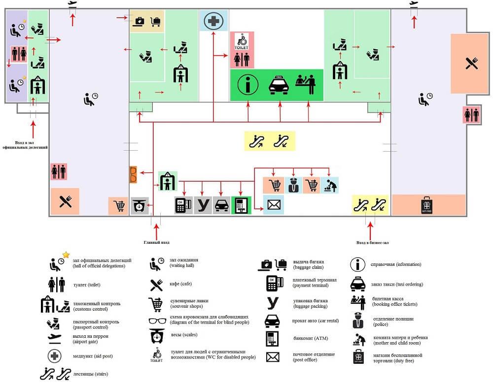Карта Аэропорта Оренбург
