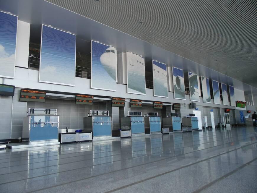 Терминал в аэропорту Благовещенск