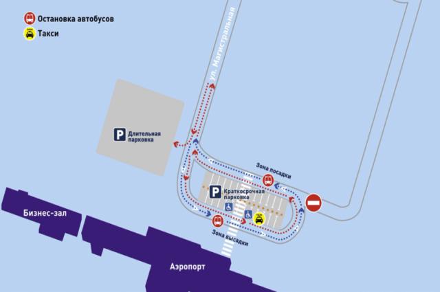 Схема аэропорта Новый Уренгой