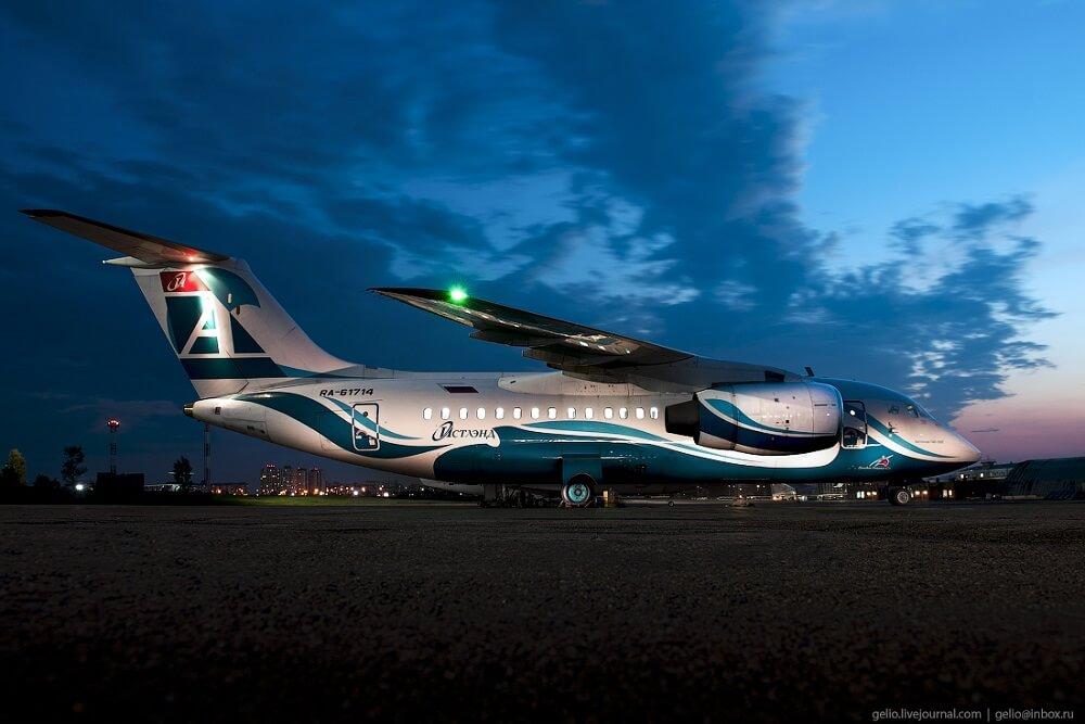 Парк самолетов авиакомпании Ангара