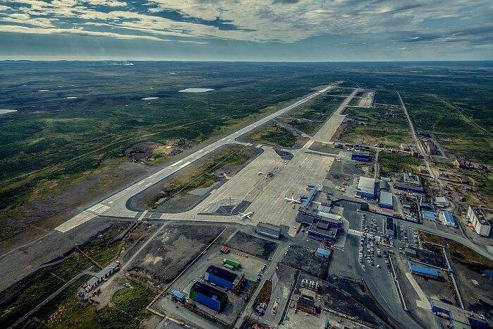 Аэропорт Норильск Взлетно-посадочная полоса