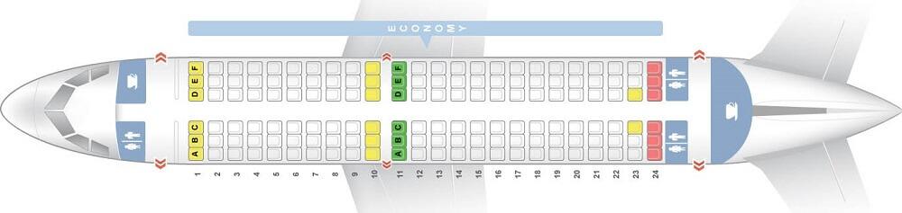 схема самолета airbus a319
